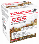 Winchester Ammunition 22LR555HP 555 Rounds Ammunition, .22  Long Rifle, 36 Grain