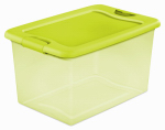 Sterilite 14974Y06 Storage Box With Latch Lid, Green, 64-Qts., Must Purchase in Quantities of 6