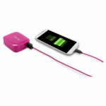 Lifeworks Technology Group IH-CT215P Portable Smartphone Charger, Pink, 4400 mAh