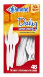 Jarden Home Brands 41426-00116 Plastic Cutlery, 16 Spoons, 16 Forks & 16 Knives
