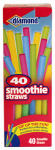 Jarden Home Brands 41426-43042 Smoothie Straws, Assorted Colors, 40-Ct.