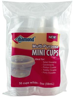 41426-80001 Storage Cups With Lids, Mini, 2-oz., 50-Ct.