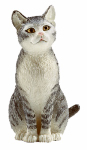 Schleich North America 13771 BLK/WHT Sitting Cat