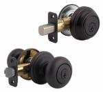 Kwikset 991J 11P SMT CP4 Venetian Bronze Juno Knob/ Single Cylinder Deadbolt Combo Pack