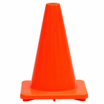 Shanghai Worth Garden Prod 6635 Traffic Cone, Orange PVC, 12-In.