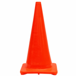 Shanghai Worth Garden Prod 6637 Traffic Cone, Orange PVC, 28-In.