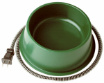Farm Innovators QT-1 Pet Bowl, Heated, Green, 25-Watt, 1-Qt.