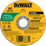 Dewalt Accessories DW8071 Concrete/Masonry Cutting Wheel, 4 x .045 x 5/8-In.