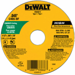 Dewalt Accessories DW8072 Concrete/Masonry Cutting Wheel, 4.5 x .045 x 7/8-In.