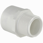 Genova Products 30405 PVC Pressure Pipe Fitting, Male Adapter, White PVC,  1/2-In.