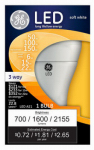 G E Lighting 92119 3-Way LED Light Bulb, Soft White, 6/15/22-Watt