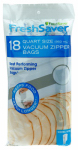 Sunbeam Products FSFRBZ0216-P00 Vacuum Seal Bags, Zippered, Qt., 18-Ct.