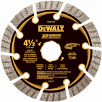 Dewalt Accessories DW4713 Diamond Saw Blade, Dry Cutting, Segmented, 4.5-In.