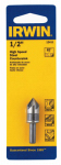 Irwin Industrial Tool 12411 Countersink Drill Bit, High Speed Steel, 1/2-In.