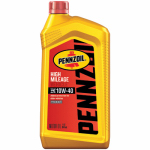 Pennzoil/Quaker State 550022829 High-Mileage Motor Oil, 10W40, 1-Qt., Must Purchase in Quantities of 6