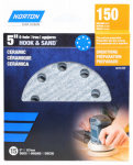 Ali Industries 50154-038 8-Hole Ceramic Sanding Discs, 150 Grit, 5-In., 15-Pk.