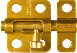 National Mfg/Spectrum Brands Hhi N151-266 Window Bolt, Dull Brass, 2-In.