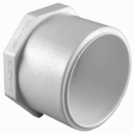 Genova Products 31830 Pipe Fitting, PVC Plug Spigot, White, 1-In.