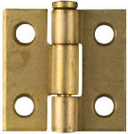 National Mfg/Spectrum Brands Hhi N141-622 2-Pack 1 x 1-Inch Dull Brass Narrow Light-Duty Hinges