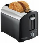 Hamilton Beach Brands 22622 Toaster, 2-Slice, Black/Chrome