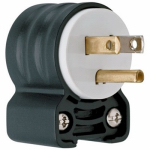 Pass & Seymour PS5266SSANCCV4 Blade Angle Plug, 125-Volt, 15-Amp