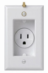 Pass & Seymour S3713W Clock Hanger Receptacle, White, 125-Volt, 15-Amp