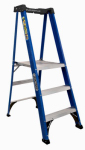 Louisville Ladder FXP4003 3-Step Platform Ladder, Fiberglass, Type II Rating