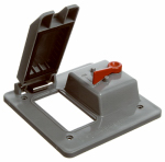 Thomas & Betts E9G2GTNR GFCI & Toggle Switch Box Cover, PVC, 2-Gang