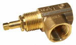 Canterbury Enterprises BFA.911 Gas Valve, Angled, Multi-Turn, 1/2-In.