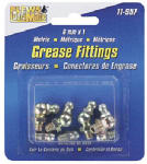 Plews/Edelmann 11-957 Metric Grease Fitting Assortment, 8-Pk.