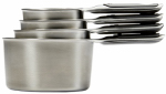Oxo International 11132000 Good Grips Measuring Cup Set, Stainless Steel, 4-Pc.