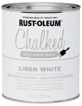 Rust-Oleum 285140 Chalked Paint, White, 30-oz.