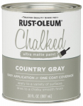 Rust-Oleum 285141 Chalked Paint, Gray, 30-oz.
