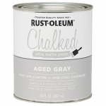 Rust-Oleum 285143 Chalked Paint, Aged Gray Blue, 30-oz.