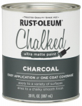 Rust-Oleum 285144 Chalked Paint, Charcoal, 30-oz.