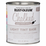 Rust-Oleum 287688 Chalked Paint, Light Tint Base, 30-oz.