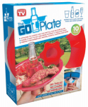 Creative Concepts Usa 01645 The Go-Plate Party Plate, Plastic, 10-Pk.