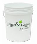 Leaktite 05GLHGS H&GS 5GAL WHT Plastic Pail