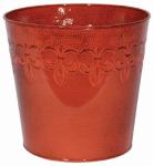 "Robert Allen MPT01892 Fleur 8"" RED Planter"