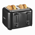 Hamilton Beach Brands 24201 Toaster, 4-Slice, Cool Touch, Chrome
