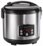 Hamilton Beach Brands 37548 Digital Simplicity Rice Cooker/Steamer, 14-Cup