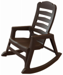 Adams Mfg 8080-60-3700 Stacking Rocking Chair, Ergonomic, Resin, Earth Brown