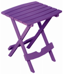 Adams Mfg 8500-12-3931 Patio Side Table, Quik Fold, Resin, Bright Violet