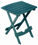 Adams Mfg 8500-94-3935 Patio Side Table, Quik Fold, Resin, Pacifica