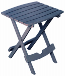 Adams Mfg 8500-94-3936 Patio Side Table, Quik Fold, Resin, Bluestone