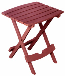 Adams Mfg 8500-95-3735 Patio Side Table, Quik Fold, Resin, Merlot