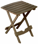 Adams Mfg 8500-96-3731 Patio Side Table, Quik Fold, Resin, Portobello