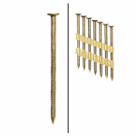 Hillman Fasteners 461764 Framing Nails, Plastic Strip, Ring Shank, Brite, 2-3/8-In. x .113, 2,000-Ct.