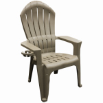 Adams Mfg 8390-96-3700 Big Easy Adirondack Chair, Ergonomic, Resin, Portobello