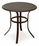 Patio Master ALL13612 Bellevue Aluminum Slat-Top Bistro Table, 30-In.